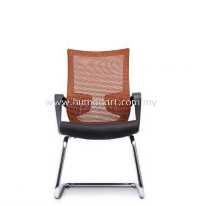 EUSTOMA 2 VISITOR ERGONOMIC MESH CHAIR C/W CHROME CANTILEVER BASE