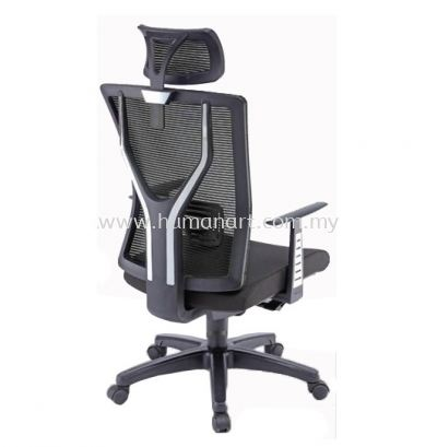 STATICE 1 HIGH BACK ERGONOMIC MESH CHAIR OWN MOULDED C/W POLYPROPYLENE BASE