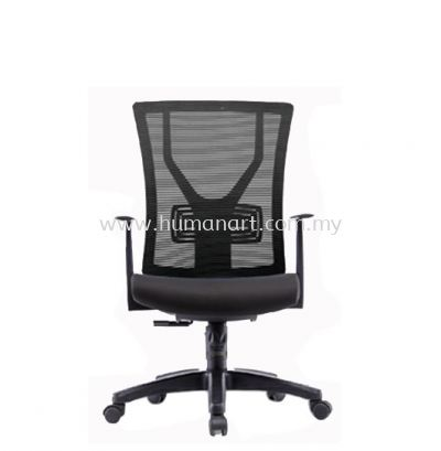 STATICE 1 MEDIUM BACK ERGONOMIC MESH CHAIR OWN MOULDED C/W POLYPROPYLENE BASE