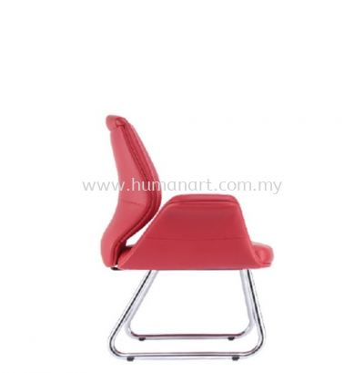ZENOBIA DIRECTOR VISITOR LEATHER CHAIR C/W CHROME CANTILEVER BASE