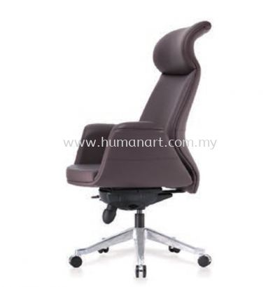 ZENOBIA DIRECTOR CURVE HIGH BACK LEATHER OFFICE CHAIR - damansara heights   changkat semantan   ampang point