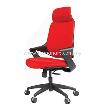 PRIMULA STANDARD HIGH BACK FABRIC OFFICE CHAIR WITH NYLON ROCKET BASE- one city   ss2 pj   klcc