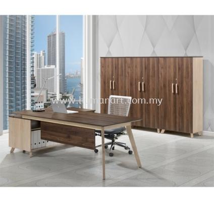 PAXIS EXECUTIVE DIRECTOR OFFICE TABLE C/W SIDE CABINET - Taipan USJ | Sunway Damansara | Kota Damansara