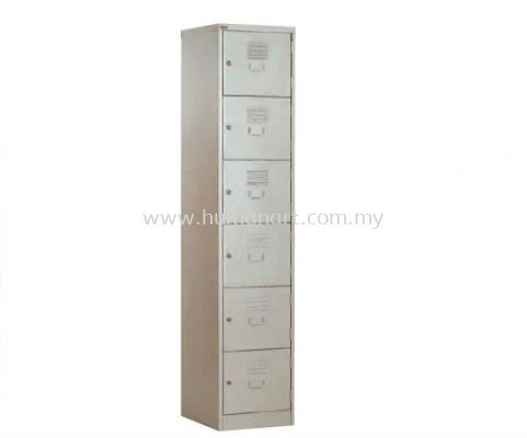 A114D 6 COMPARTMENT STEEL LOCKER