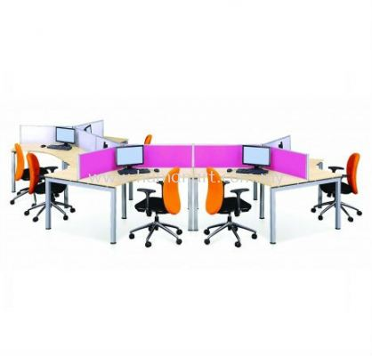 CLUSTER OF 9 OFFICE PARTITION WORKSTATION- pj old town   pj new town   pandan indah