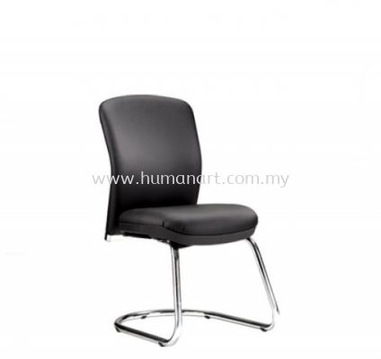 BRYON EXECUTIVE VISITOR LEATHER OFFICE CHAIR W/O ARMREST WITH CHROME CANTILEVER BASE - jalan ipoh | sentul | jalan kuching