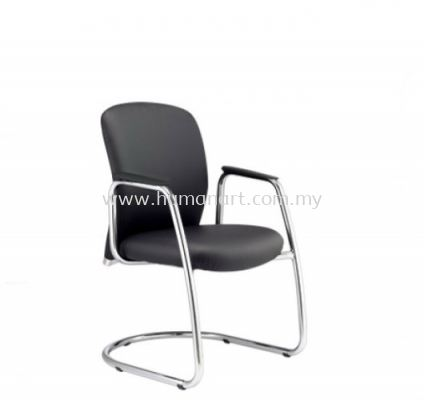 BRYON EXECUTIVE VISITOR LEATHER CHAIR C/W CHROME CANTILEVER BASE BY-4L