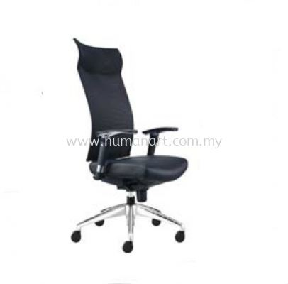 INCLUDE EXECUTIVE HIGH BACK LEATHER CHAIR WITH ALUMINIUM DIE-CAST BASE ID 390L