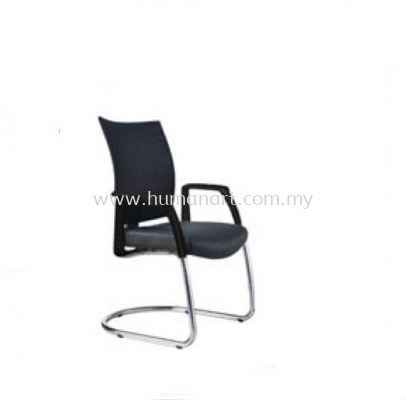 INCLUDE EXECUTIVE VISITOR LEATHER OFFICE CHAIR WITH CHROME CANTILEVER BASE - seputeh | taman desa | desa pandan