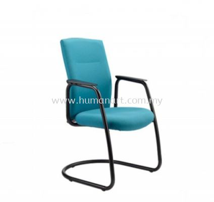 KARISMA EXECUTIVE VISITOR FABRIC CHAIR WITH EPOXY BLACK CANTILEVER BASE KM4