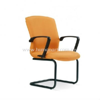 FIGTHER STANDARD VISITOR FABRIC CHAIR WITH EPOXY BLACK CANTILEVER BASE