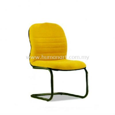 HYDE STANDARD VISITOR FABRIC OFFICE CHAIR WITH EPOXY BLACK CANTILEVER BASE WITHOUT ARMREST- tropicana | mutiara tropicana | batu caves