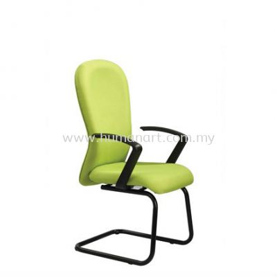 VOTEX STANDARD VISITOR FABRIC OFFICE CHAIR WITH EPOXY BLACK CANTILEVER BASE-klia   sepang   imbi