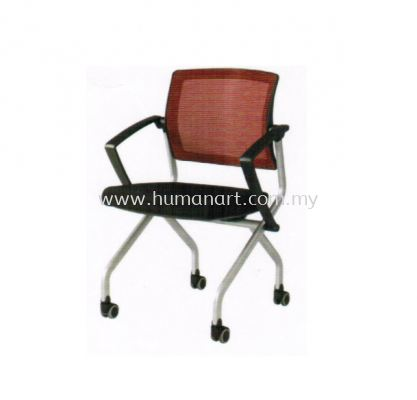 FOLDING/TRAINING CHAIR - COMPUTER CHAIR AVA (Front View)  - ultramine industrial park   taipan business centre   pudu