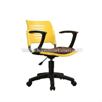 AEXIS PP CHAIR C/W GASLIFT, ARMREST & POLYPROPYLENE BASE ACL 56-(G+A01)