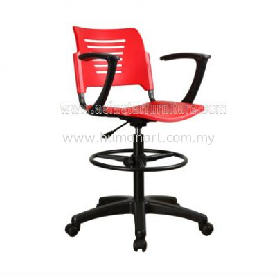 AEXIS PP DRAFTING CHAIR C/W ARMREST & POLYPROPYLENE BASE ACL 56-(G+A01)
