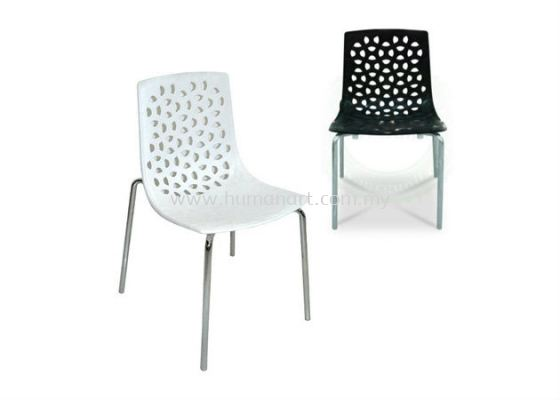 AS 9108 RECYCLE PP SEAT WITH CHROME FRAME