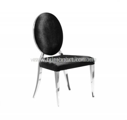 AS B18 MICROFIBRE DINING CHAIR WITH STAINLESS STEEL LEG
