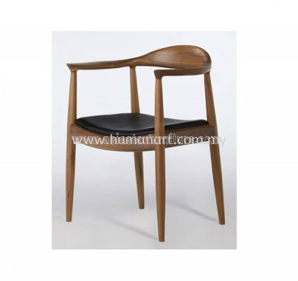 AS HH 604 PU SEAT CHAIR  WITH ASH FRAME