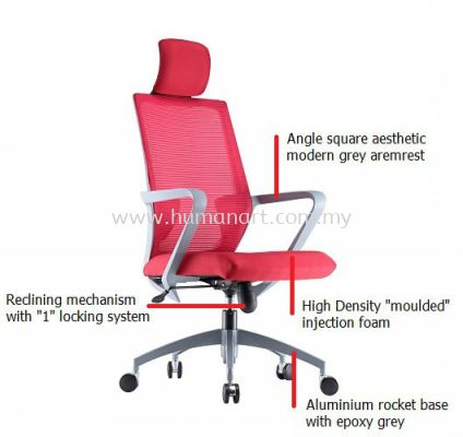 ASTER 3 HIGH BACK ERGONOMIC MESH CHAIR SPECIFICATION