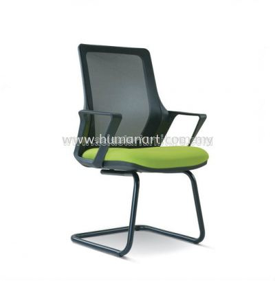 RIA 6 VISITOR ERGONOMIC MESH CHAIR WITH EPOXY BLACK CANTILEVER BASE BASE ASE 2696