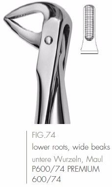 Extracting Forceps English Pattern FIG.74