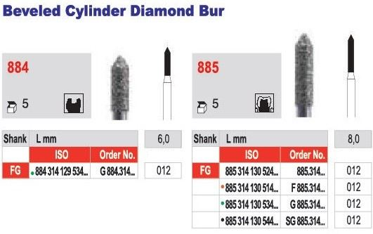 Beveled Cylinder Diamond Bur