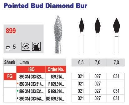 Pointed Bud Diamond Bur