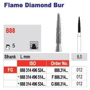 Flame Diamond Bur