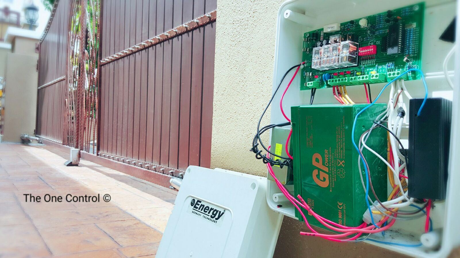 control box with backup battery