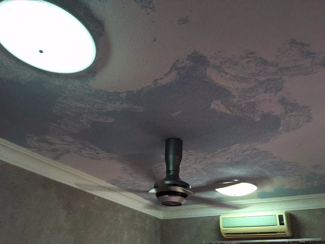 design ceiling-cotton-wallpaper