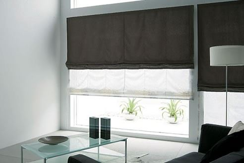 living-area-toso-japanese-double-twins-roman-shade-blinds-one-touch-system 7
