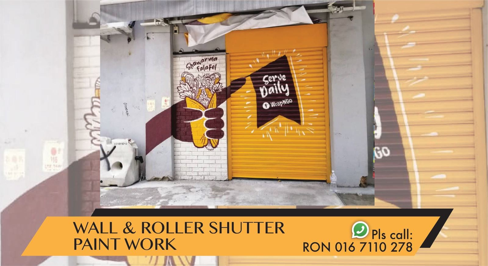 ROLLER SHUTTER & WALL PAINT WORK