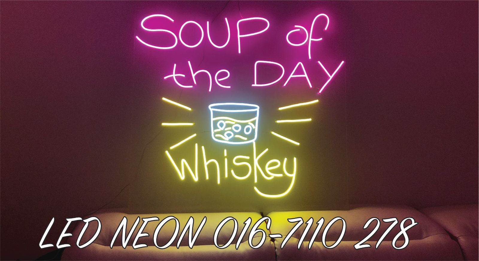 LED NEON Whiskey signage