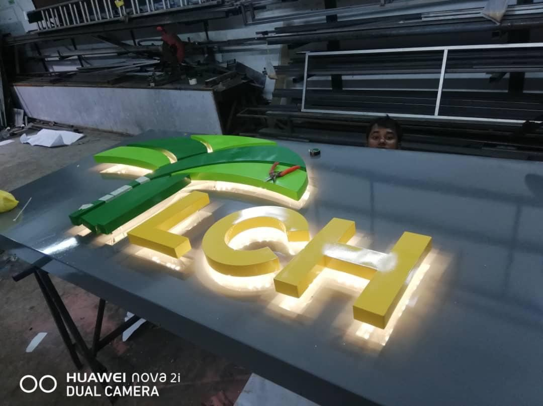Aluminium 3D Signboard LED (backlit)
