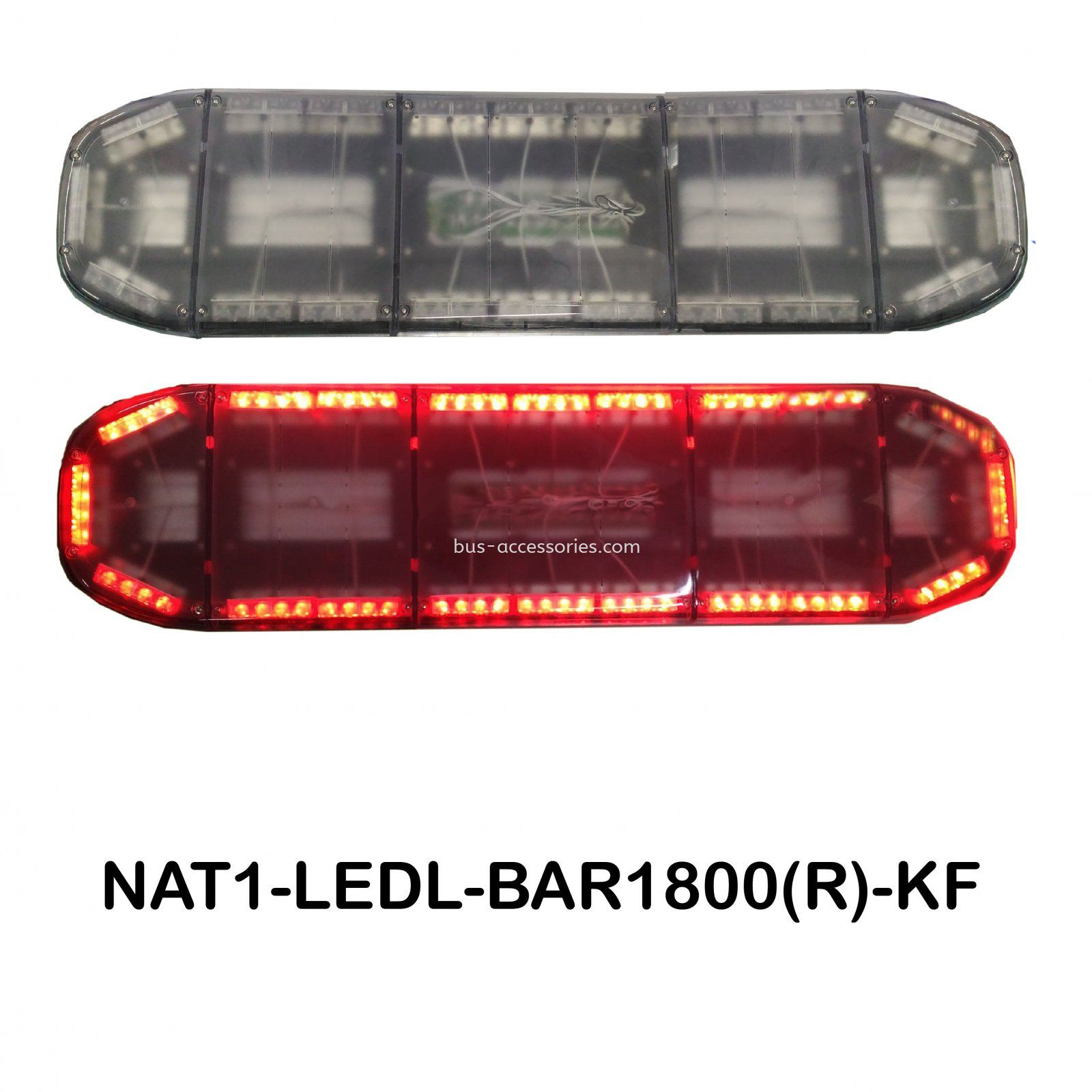 LED LIGHTBAR WITH CLEAR COVER (RED)