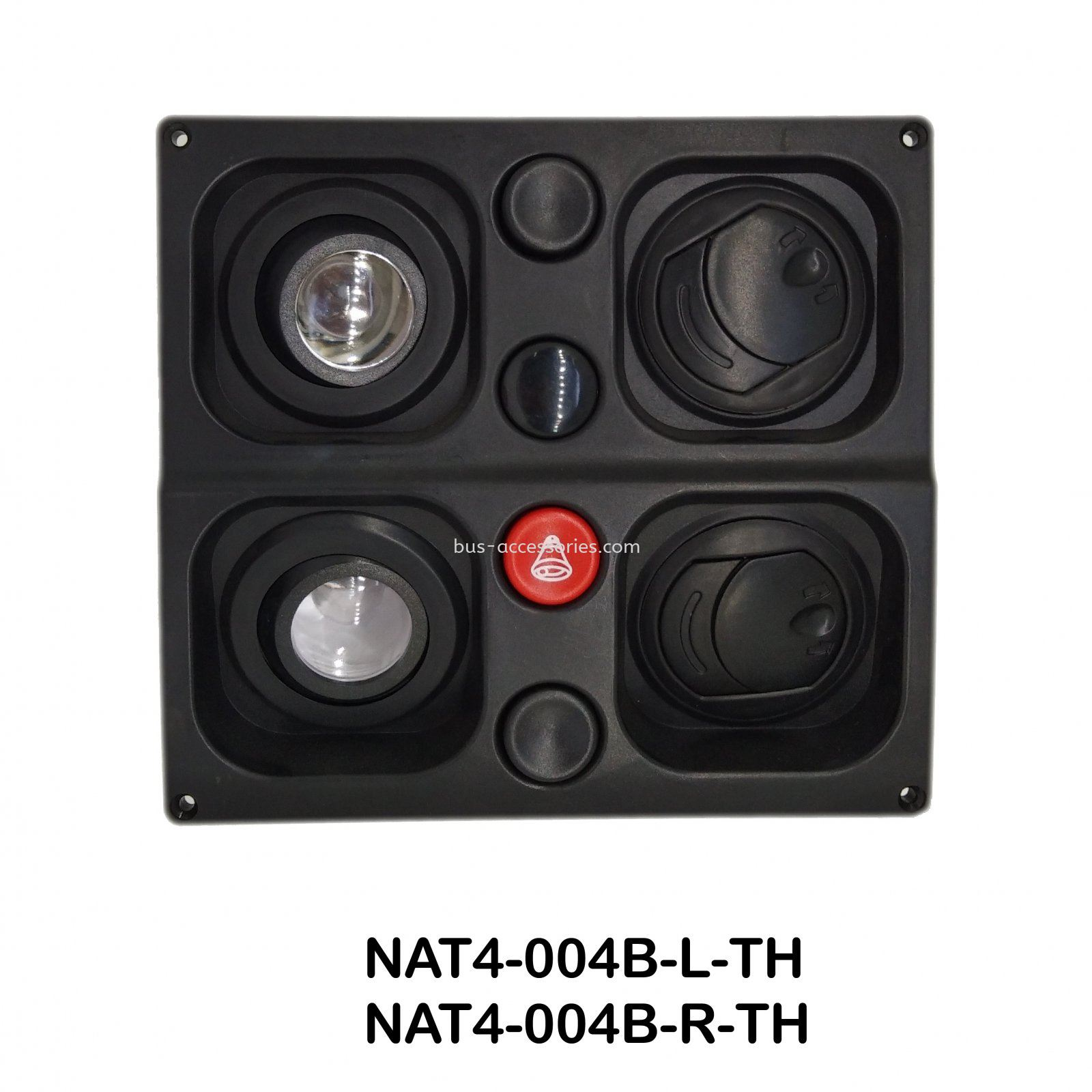 AIRCOND LOUVERS DOUBLE (BLACK) Auto interior parts bus wind outlet air vent louver with reading light Malaysia Singapore India Indonesia Thailand