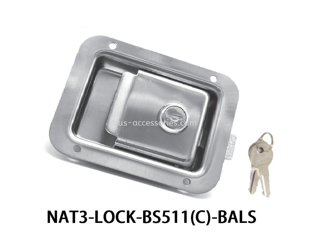 LUGGAGE LOCK BS511 (CHROME)