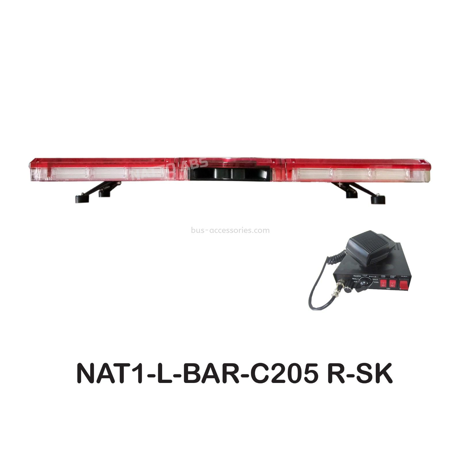 Lightbar Red Light bar Red 205