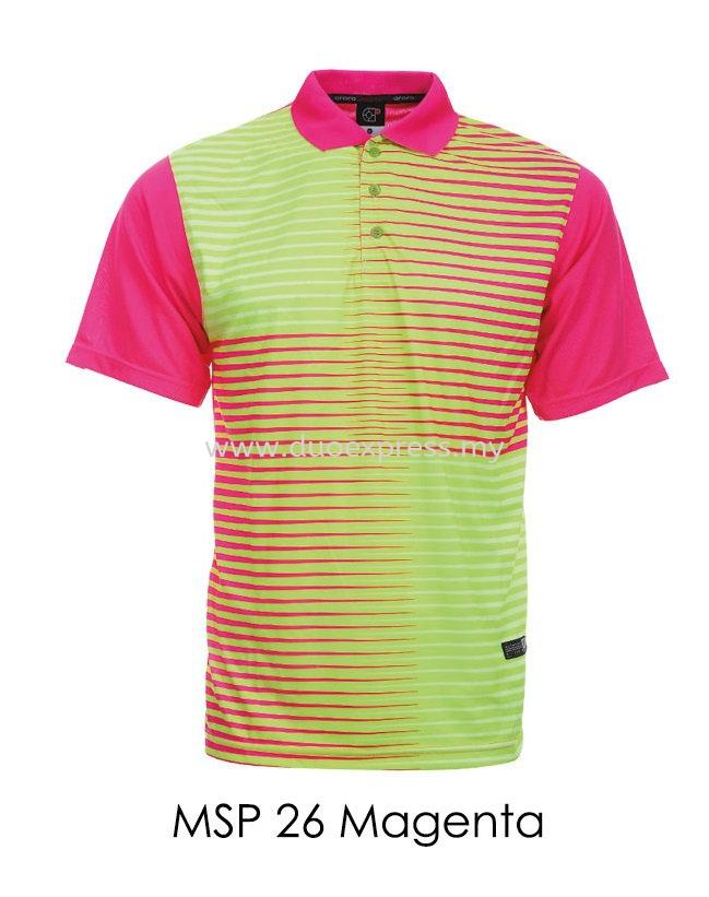 MSP 26 Magenta Collar T Shirt