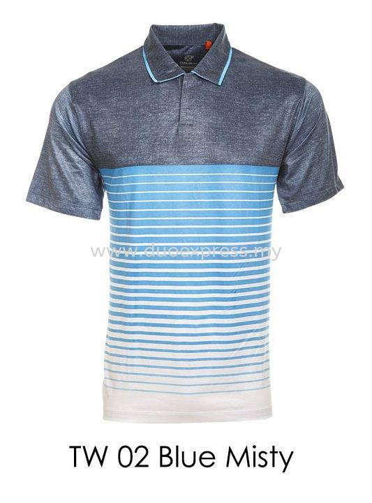 TW 02 Blue Misty Golf T Shirt