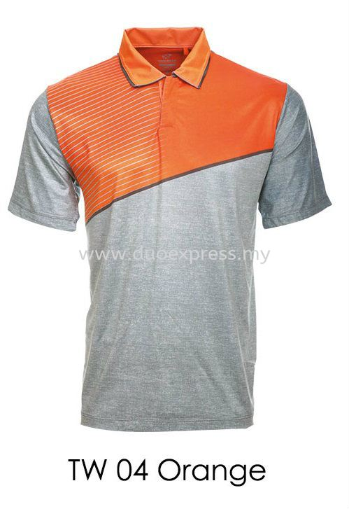 TW 04 Orange Misty Golf T Shirt