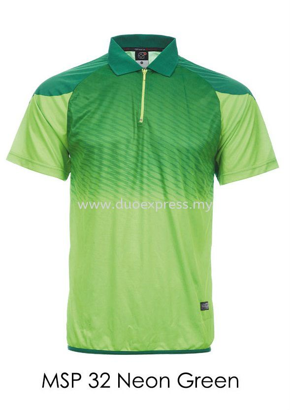 MSP 32 Neon Green Collar T Shirt