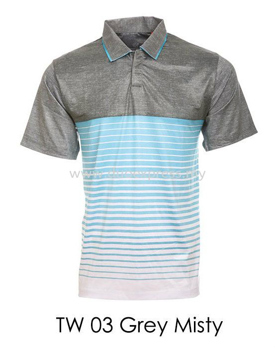 TW 03 Grey Misty Golf T Shirt