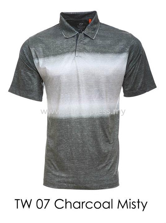 TW 07 Charcoal Misty Golf T Shirt