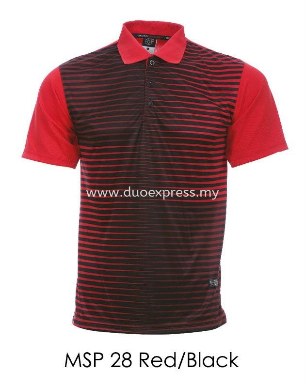 MSP 28 Red Black Collar T Shirt
