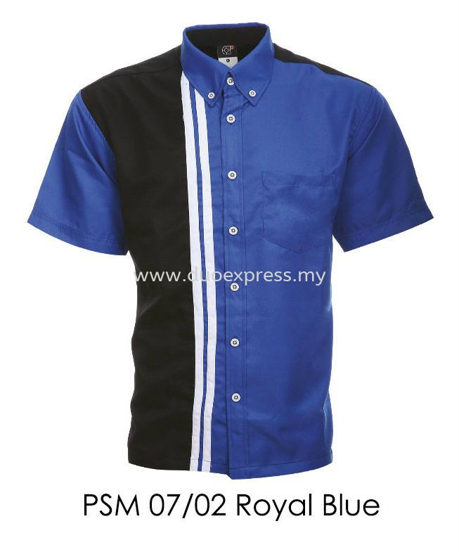 PSM 07 02 Royal Blue Unisex Corporate Shirt