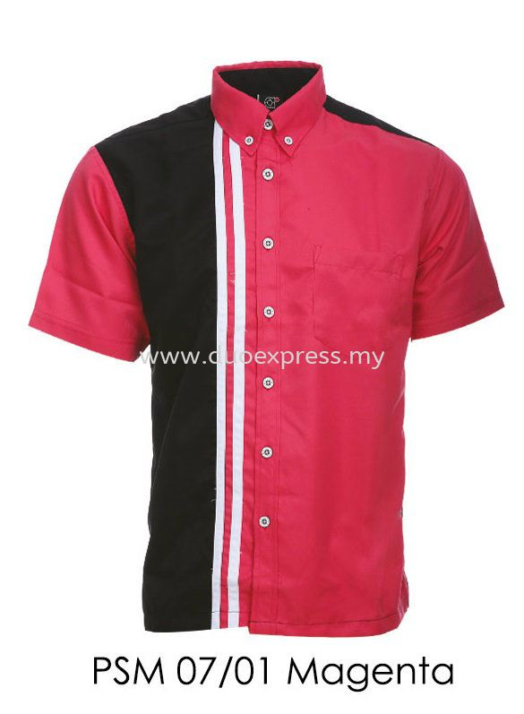 PSM 07 01 Magenta Unisex Corporate Shirt