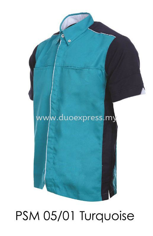 PSM 05 01 Turquoise Unisex Corporate Shirt