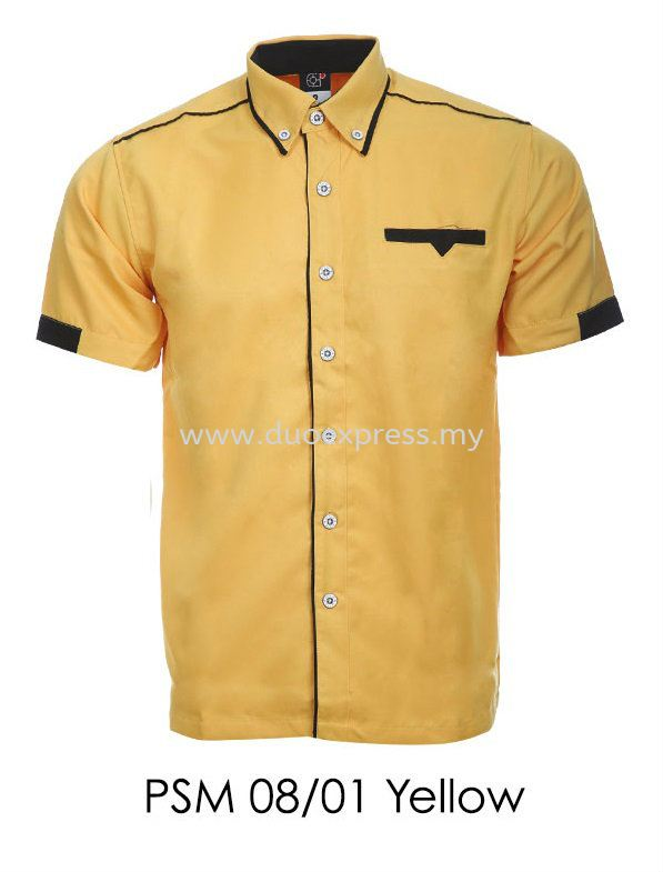 PSM 08 01 Yellow Unisex Corporate Shirt